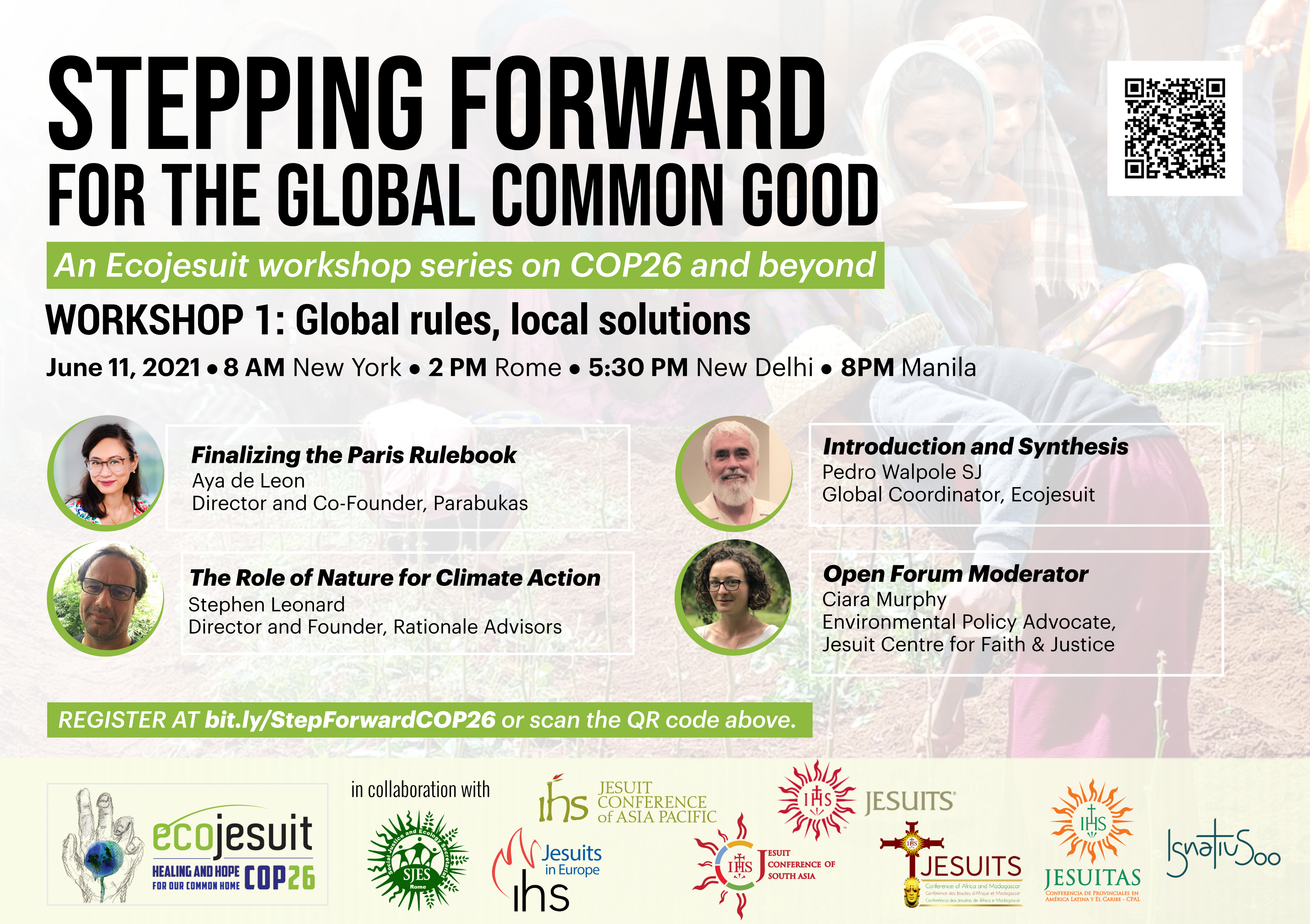 Stepping Forward for the Global Common Good: An Ecojesuit workshop series on COP26 and beyond