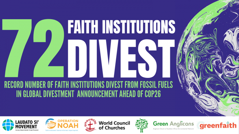 Faith institutions announce largest-ever divestment ahead of COP26 – Brightnow.org.uk